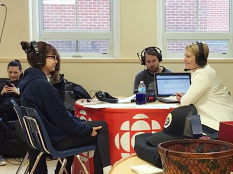 Nutana Collegiate shares stories during live CBC broadcast