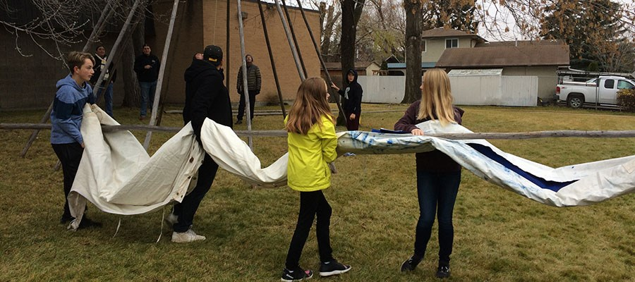 Tipi provides learning opportunity for River Heights students