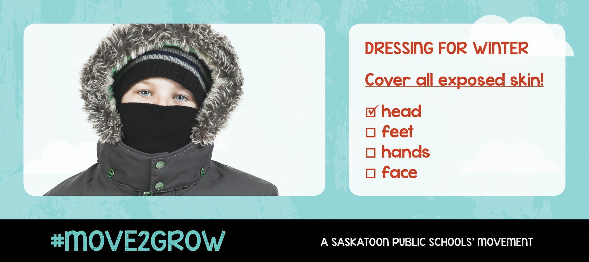 Proper dress encourages students to be winter active